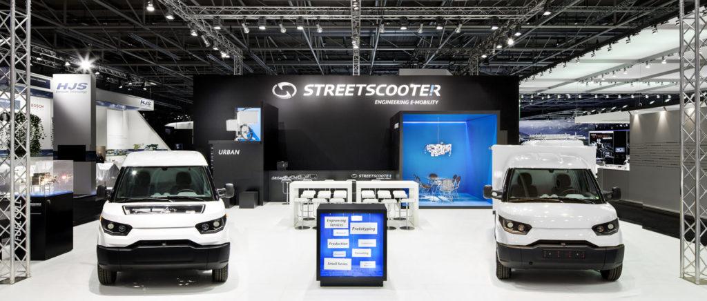 Streetscooter, Elektromobilität, IAA, Messestand, Messebau, Messedesign, wesentlich. visuelle kommunikation, Aachen