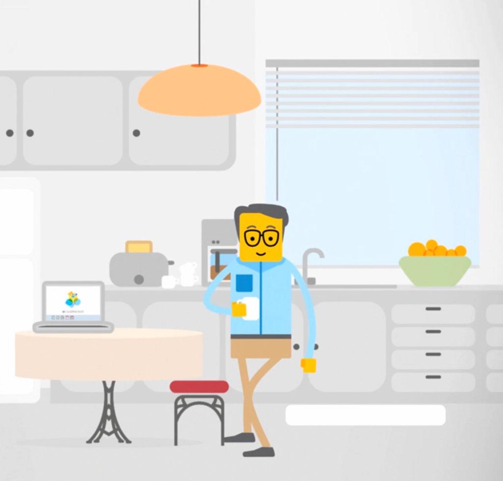 wesentlich. stadtwolke software erklärfilm design animation cloud software