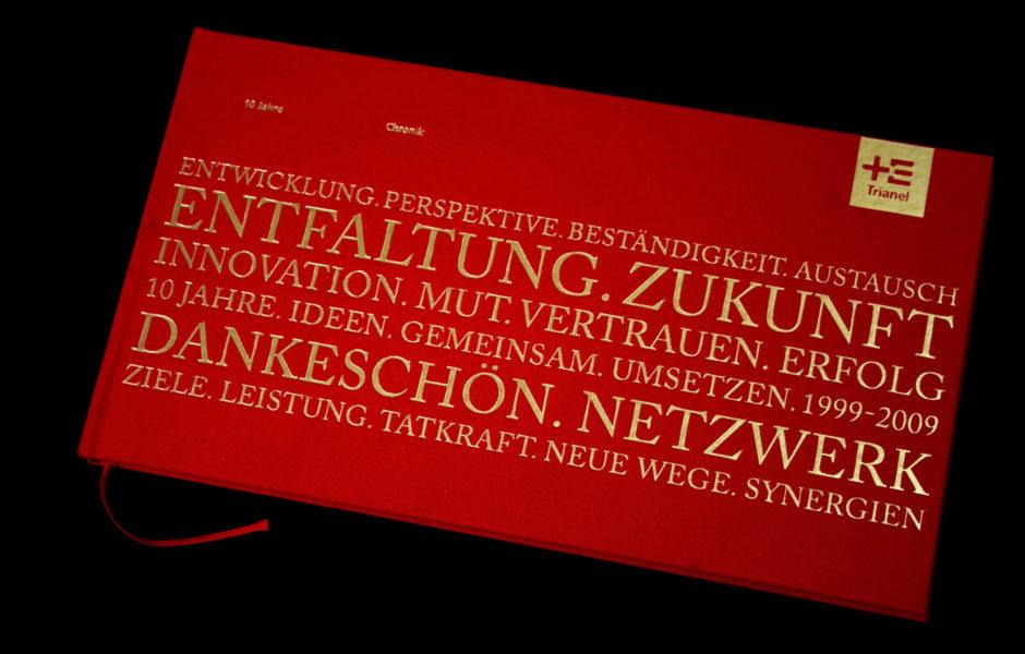 Trianel, wesentlich, Chronik, Buchgestaltung, Saskia Petermann