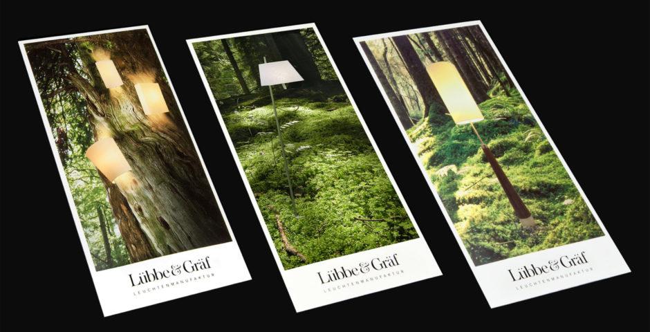 Corporate Design, Artdirektion, Lampen, Leuchten Design wesentlich Aachen Luebbe und Graef