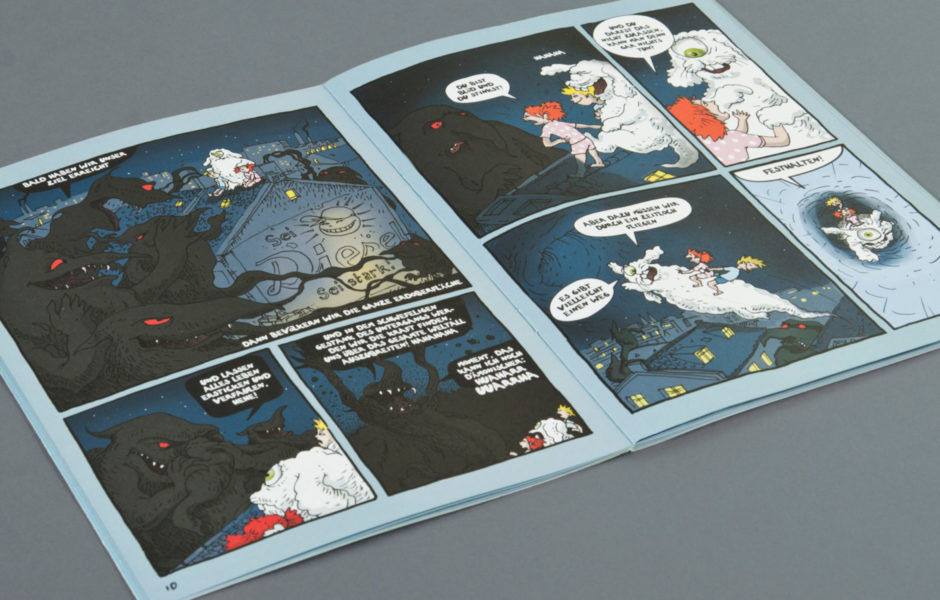 Comic Konzeption und Gestaltung Kolorierung wesentlich Aachen Elektromobilität Kindercomic, Kinderbuch,