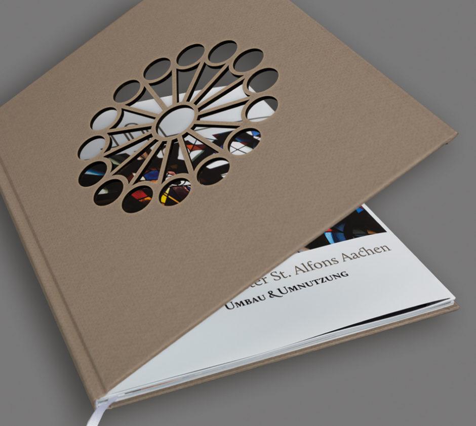 wesentlich, aachen, Buchgestaltung, Kloster st Alfons, Architekturbuch, Kunstbuch, visuelle kommunikation