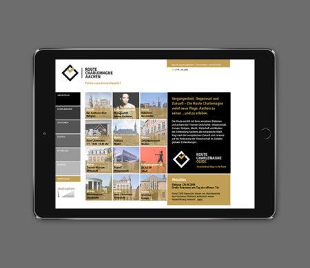 wesentlich, aachen, route Charlemagne, Corporate design, Webdesign,